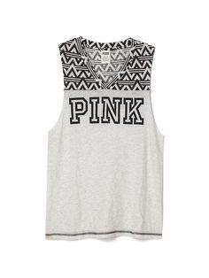 V-neck Muscle Tank - PINK - Victoria's Secret
