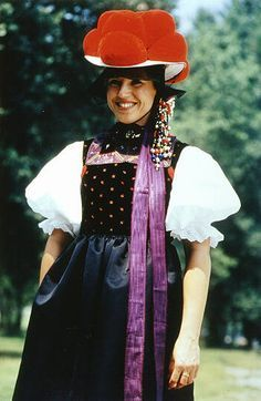 Europe | Portrait of a woman with traditional pompom hat, Gutach, Wolfach-Kirnbach and Hornberg-Reichenbach in Südschwarzwald, Germany #pompom