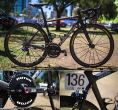 2014 BIKES OF THE WORLDTOUR – PART 1 - Garmin is riding the Cervelo R5, the new Rotor compact BCD chainset, (rumour is that Rotor is working on a full groupset), Garmin Vector pedals, Shimano Di2 groupset (battery in seatpost) and Mavic wheels.