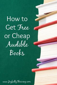 I love to read so this is amazing! I love knowing how to get free or cheap Audible books. And it really works!