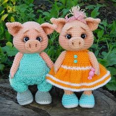 This little Piggy Crochet Pig, Crochet Doll Pattern, Crochet Toys Patterns, Cute Crochet, Amigurumi Patterns, Stuffed Toys Patterns, Amigurumi Doll, Crochet Dolls, Doll Patterns