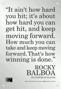 that's how winning is done // rocky balboa #strong #keepgoing