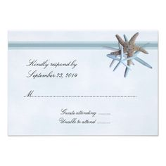 Discount DealsStarfish Gathering A1 Size RSVP Cards Personalized InvitationIn our offer link above you will see