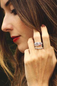 Cute PANDORA ring stack by Brazilian blogger @fashioncoolture #PANDORAstyle #PANDORAring