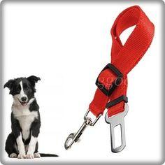 Adjustable Car Vehicle Safe Seatbelt Seat Belt Harness Lead for Cat Dog Pet Red $2.30