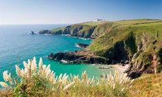 The Lizard peninsula walk in Cornwall England