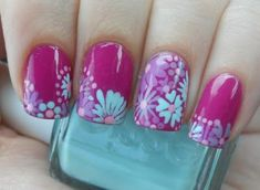 This girl has a beautiful blog, so many creative nails!