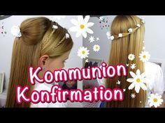 Konfirmation / Kommunion Frisuren ★klassisch★ einfach und schnell  - YouTube