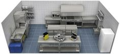 Resultado de imagen para planos de cocinas de restaurantes 3d