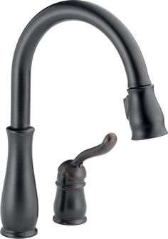 Delta 978-WE-DST Leland Pull-Down Kitchen Faucet with Magnetic Docking Spray Hea Venetian Bronze Faucet Kitchen Single Handle