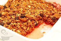 crumble de morango e maçã com granola - Naminhapanela.com Blog de Culinária
