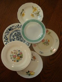 Six Small Shabby Vintage Porcelain by CharmedVintageDepot on Etsy