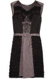 Nina Ricci Bouclé wool, jacquard and gauze dress