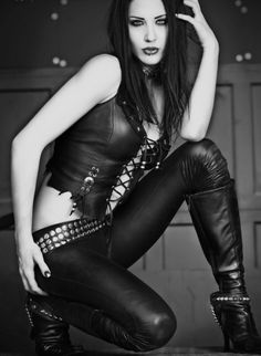 """It's not so much that the outfit is leather, its more that it gives off the """"I don't take any sh*t"""" attitude. Kinda like Bullets. #bulletsandblades #myssahleeauthor"""