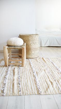 Small Handira. Vintage Moroccan Wedding Blanket The Handira is hand woven from 100% wool by the Berber women of the Middle Atlas Mountains in Morocco. They are traditional wedding blankets worn by the Berbers as a cape during the ceremony.They add a touch of bohemian chic to your home and make beautiful bed coverlets, gorgeous wall hangings or sumptuous rugs.Due to its vintage nature and handmade construction, it may show slight imperfections, markings.This is considered...