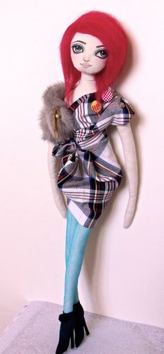 Fashion Cloth Rag Art Doll Handmade OOAK Bobby by PlasticCity
