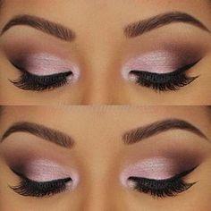 Super Wedding Makeup Products Foundation Make Up Ideas Pink Eye Makeup, Hair Makeup, Pink Eyeshadow, Makeup Eyeshadow, Matte Makeup, Eyeshadows, Black Makeup, Dress Makeup, Makeup Brushes