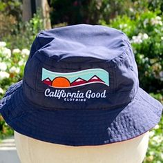 California Good Navy & Red Bucket Hat by California Good Clothing on Opensky