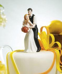 Muñecos para tarta de bodas especiales para amantes del baloncesto. // Basket Ball Dream Team Couple Cake Topper