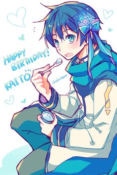 Vocaloid, Vocaloid Kaito, Kawaii, Manga Illustration, Studio Ghibli, Hetalia, Anime, Hatsune Miku, Sword Art Online
