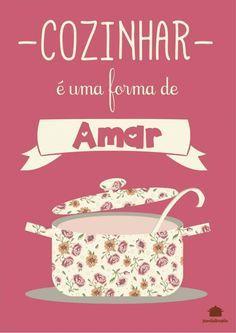 Poster Retrô - Cozinhar é uma Forma de Amar - Panelaterapia PT004