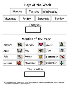 Matching and Identifying Days and Month for Kids with Autism. - Hailey Deloya - TeachersPayTeachers.com