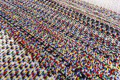 Glitch textiles by Phillip David Stearns /// Interiorator