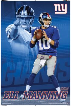 New York Giants - Eli Manning 2014 | NFL | Sports | Hardboards | Wall Decor | Pictures Frames and More | Winnipeg | Manitoba | MB | Canada