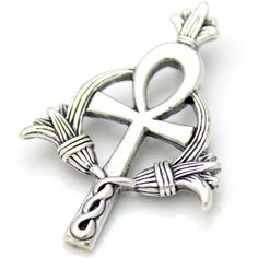 925 Sterling Silver Egyptian Ankh Charm by BelchoUSAJewelry, $27.00