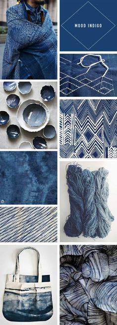 Going deep with indigo—Trend Story - Think. - - Indigo trend story featuring images from fashion, home décor, design, and crafting communities inspired by this deep color and its global roots. Colour Story, Color Stories, Design Blog, Diy Design, Design Art, Interior Design, Pink Cushions, Indigo Colour, Indigo Blue