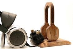 Wood Headphone Stand Station