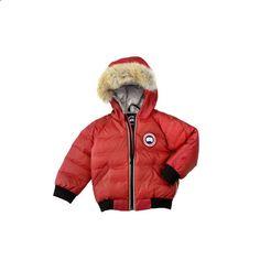 Baby Canada Goose Red Elijah Bomber Jacket