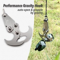 Gravity Hook - A High Performance Grappling Hook Multifunctional Stainless Steel Survival Folding Grappling Hook Climbing Claw Outdoor Gravity Carabiner for Your Outdoor Life : Sports & Outdoors Survival Equipment, Survival Tools, Survival Stuff, Bug Out Gear, Grappling Hook, Armas Ninja, Fabric Shaver, Metal Bending, Cool Inventions