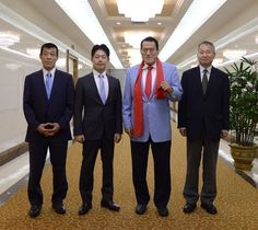 일본국회 참의원 의원일행 도착-《조선의 오늘》