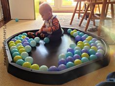 Over 150 ideas for using your Active World Tuff Spot Tray baby ball play in a tuff spot Baby Room Activities, Eyfs Activities, Toddler Learning Activities, Infant Activities, Children Activities, Baby Sensory Play, Baby Play, Sensory Rooms, Sensory Bins