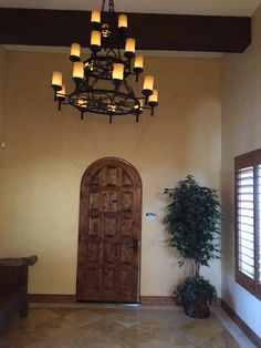 Tuscan Style 4,579 Sq Ft, 4 Bdrm, 7 Bath Lakefront Home - Front Foyer