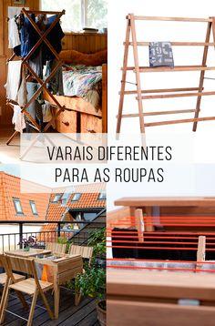 6 ideias de varais para pendurar as roupas que são diferentes, criativos e bonitos! Tudo pode ser lindo :-) // palavras-chave: decoração, casa, dica de casa, design, design brasileiro, roupas, lavar roupas, truque para lavar as roupas, soluções para casas pequenas, soluções para pequenos espaços, ideias criativas, ideias diferentes, varal de roupa, varal de madeira, varal de chão, varal de teto, varal de parede, mesa de madeira que vira varal.