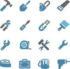 Tool Icons - Conc Series - ilustração de arte em vetor