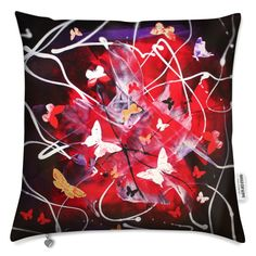 """Cushions """"Butterfly Cascade"""" series by Paresh Nrshinga https://www.bagsoflove.co.uk/stores/unique-gifts-paresh-nrshinga-art #uniquegift #artgoft #gift"""