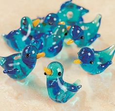 glass bluebird beads....a few of my favorite things combined.