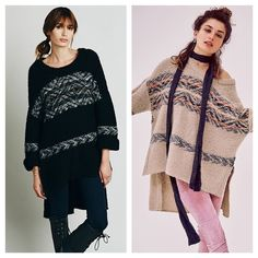 FREE PEOPLE poncho pullover Slouchy pullover sweater with stripe detail. This is perfect for winter as well as the beach! Pair with leggings for a year around look! 225159   Retail: $248  Free People is sold out of this fast don't miss out! ❗️PLEASE NOTE SIZE AND COLOR AVAIL❗️ Cream : M/L (order as medium) Black : XS/S ( order as small)    ❤I have over 300 new with tag Free People items for sale! I love to offer bundle discounts! ❤No trades. love the item but not the price? Submit an offer…