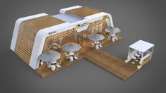 POSM Outdoor expo stand by Vitaly Pyvovar, via Behance