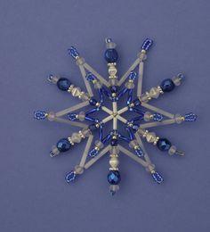 Vánoční  korálková hvězda