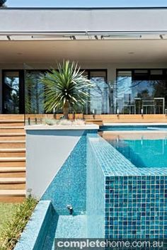 A modern pool and spa design from Neptune Pools and Spas.