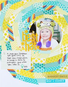 Sunny circle made of washi tape! Best Hat | Valerie O'Neall