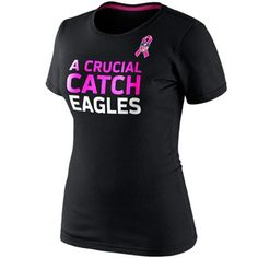 Nike Philadelphia Eagles Women's Breast Cancer Awareness Attitude T-Shirt - Black