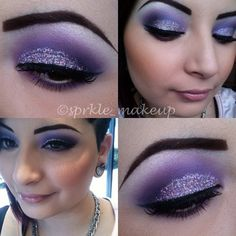 Love the combination of matte & glitter shadow