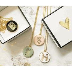 Round Gold Monogram Necklace Cute Bridesmaids Gifts a9123616d