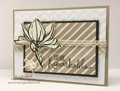 Stampin' Up! Remarkable You with How To Video, Kay Kalthoff, Thank You Card, English Garden Designer Series Paper, #stampingtoshare