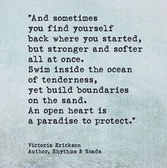 Open heart. [Victoria Erickson]